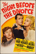 """Movie Posters:Comedy, The Night Before the Divorce (20th Century Fox, 1942). One Sheet (27"""" X 41""""). Comedy.. ..."""