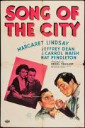 "Movie Posters:Drama, Song of the City (MGM, 1937). One Sheet (27"" X 41""). Drama.. ..."