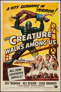 "The Creature Walks Among Us (Universal International, 1956). One Sheet (27"" X 41""). Horror"