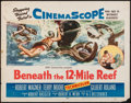 "Movie Posters:Adventure, Beneath the 12-Mile Reef (20th Century Fox, 1953). Half Sheet (22""X 28""). Adventure.. ..."