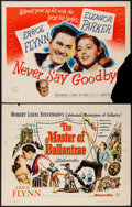 """Movie Posters:Swashbuckler, The Master of Ballantrae & Other Lot (Warner Brothers, 1953). Half Sheets (2) (22"""" X 28""""). Swashbuckler.. ... (Total: 2 Items)"""