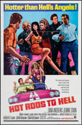 """Movie Posters:Exploitation, Hot Rods to Hell (MGM, 1967). One Sheet (27"""" X 41""""). Exploitation.. ..."""