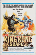 "Movie Posters:Science Fiction, King Kong Escapes (Universal, 1968). One Sheet (27"" X 41""). ScienceFiction.. ..."