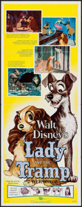 """Movie Posters:Animation, Lady and the Tramp (Buena Vista, R-1962). Insert (14"""" X 36""""). Animation.. ..."""