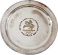 Miscellaneous Collectibles:General, 1956 Stockholm Summer Olympics Silver Plated Plate....