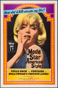 "Movie Posters:Exploitation, Movie Star, American Style or; LSD, I Hate You (Famous PlayersCorp., 1966). One Sheet (27"" X 41""). Exploitation.. ..."