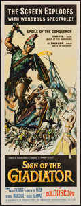 "Movie Posters:Adventure, Sign of the Gladiator (American International, 1959). Insert (14"" X36""). Adventure.. ..."