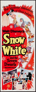 "Movie Posters:Animation, Snow White and the Seven Dwarfs (Buena Vista, R-1958). Insert (14"" X 36""). Animation.. ..."