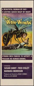 "Movie Posters:Science Fiction, The Wasp Woman (Film Group, 1959). Insert (14"" X 36""). Science Fiction.. ..."