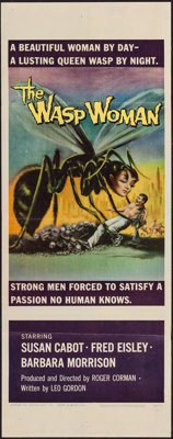 "The Wasp Woman (Film Group, 1959). Insert (14"" X 36""). Science Fiction"