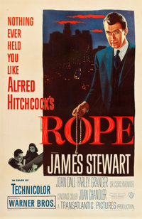 """Rope (Warner Brothers, 1948). One Sheet (27"""" X 41.5"""")"""