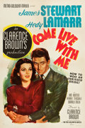"""Movie Posters:Comedy, Come Live with Me (MGM, 1941). One Sheet (27.5"""" X 41"""") Style D....."""