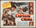"Movie Posters:Adventure, Captain China (Paramount, 1950). Half Sheet (22"" X 28"") Style A.Adventure.. ..."