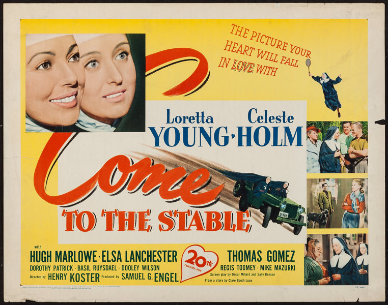"""Come to the Stable (20th Century Fox, 1949). Half Sheet (22"""" X 