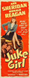 "Movie Posters:Bad Girl, Juke Girl (Warner Brothers, 1942). Insert (14"" X 36"").. ..."