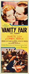 "Movie Posters:Drama, Vanity Fair (Allied Pictures, 1932). Insert (14"" X 36""). Drama....."