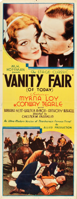 "Vanity Fair (Allied Pictures, 1932). Insert (14"" X 36""). Drama"