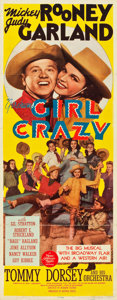 "Movie Posters:Musical, Girl Crazy (MGM, 1943). Insert (14"" X 36"").. ..."