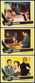 "Movie Posters:Film Noir, Sunset Boulevard (Paramount, 1950). Lobby Cards (3) (11"" X 14"")..... (Total: 3 Items)"