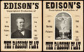 "The Passion Play (Edison Manufacturing, 1898). Window Cards (2) (10.5"" X 13.25"" and 11"" X 13"")..."