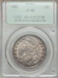 Bust Half Dollars: , 1809 50C Normal Edge XF40 PCGS. PCGS Population (67/370). NGCCensus: (50/350). Mintage: 1,405,810. Numismedia Wsl. Price f...