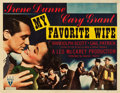 "Movie Posters:Comedy, My Favorite Wife (RKO, 1940). Half Sheet (22"" X 28"") Style B.. ..."
