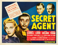 "Secret Agent (Gaumont, 1936). Half Sheet (22"" X 28"")"