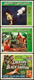 "Movie Posters:Horror, Creature from the Black Lagoon (Universal International, 1954).Title Lobby Card and Lobby Cards (2) (11"" X 14"").. ... (Total: 3Item)"