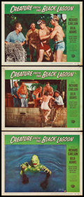 """Movie Posters:Horror, Creature from the Black Lagoon (Universal International, 1954).Lobby Cards (3) (11"""" X 14"""").. ... (Total: 3 Items)"""