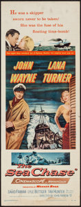 "Movie Posters:War, The Sea Chase (Warner Brothers, 1955). Insert (14"" X 36""). War....."