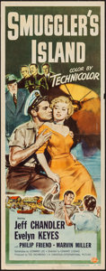 "Movie Posters:Adventure, Smuggler's Island (Universal International, 1951). Insert (14"" X36""). Adventure.. ..."