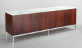 Furniture : American, FLORENCE KNOLL (American, b. 1917). Four-door credenza.Rosewood, marble, chrome-plated steel. 25-1/2 x 74-1/2 x 18 inch...(Total: 2 Items)
