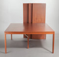Furniture : American, UNKNOWN MAKER (American, 20th Century). Dining Room Table withThree Leaves. Wood, veneer. 27-3/4 x 60 x 60 inches (70.5...(Total: 4 Items)