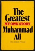 """Boxing Collectibles:Autographs, Muhammad Ali """"The Greatest of All Time"""" Signed and InscribedHardcover Book...."""