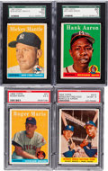 Baseball Cards:Sets, 1958 Topps Baseball Complete Set (494) Plus Contest Card. ...