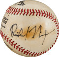 Autographs:Baseballs, 1980's Richard Nixon Single Signed Portrait Baseball....