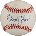 Autographs:Baseballs, Circa 1990 President Gerald Ford Single Signed Baseball....