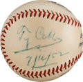 Autographs:Baseballs, 1952 Ty Cobb Single Signed Baseball....