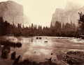 Photographs:Historical Photographs, EADWEARD MUYBRIDGE (British, 1830-1904). Valley of the Yosemite, from Rocky Ford, 1872. Gold toned albumen from wet col...