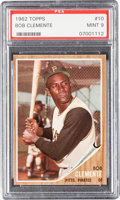 Baseball Cards:Singles (1960-1969), 1962 Topps Roberto Clemente #10 PSA Mint 9 - Only One Higher....