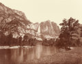 Photographs:Historical Photographs, EADWEARD MUYBRIDGE (British, 1830-1904). Falls of the Yosemite (Great Grizzly Bear, 2600 Feet), 1872. Gold toned albumen...