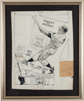 Baseball Collectibles:Others, 1961 Mickey Mantle Original Artwork by Willard Mullin....