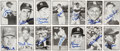 Autographs:Sports Cards, 1953 Bowman Black and White Signed Reprint Cards Lot of 14. ...