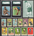 Boxing Cards:General, 1910's-1950's Boxing Card Collection (21) With Two Jack JohnsonCards! ...