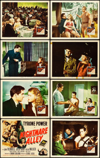 """Nightmare Alley (20th Century Fox, 1947). Lobby Card Set of 8 (11"""" X 14""""). ... (Total: 8 Items)"""