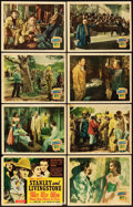 "Movie Posters:Adventure, Stanley and Livingstone (20th Century Fox, 1939). Lobby Card Set of 8 (11"" X 14"").. ... (Total: 8 Items)"
