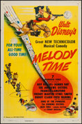 "Movie Posters:Animation, Melody Time (RKO, 1948). One Sheet (27"" X 41""). Animation.. ..."
