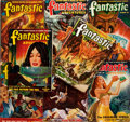 Books:Science Fiction & Fantasy, Group of Eight Issues of Fantastic Adventures Magazine, 1947-1952. Chicago: Ziff-Davis. Publisher's original pri... (Total: 8 Items)
