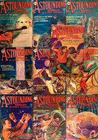 Ten 1930 Issues of Astounding Stories Pulp Magazines. (New York: Publishers' Fiscal