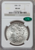 Morgan Dollars: , 1886 $1 MS66 NGC. CAC. NGC Census: (4919/901). PCGS Population(2542/305). Mintage: 19,963,886. Numismedia Wsl. Price for p...